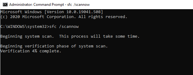 Sfc scan command